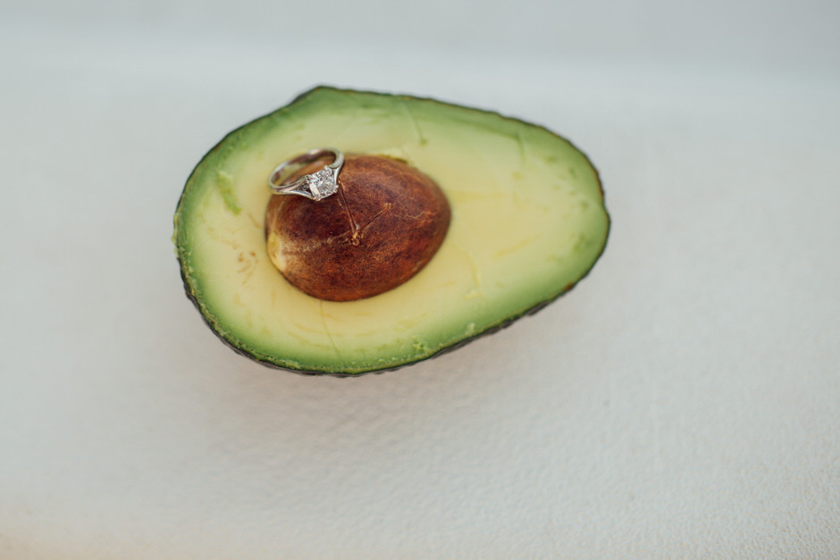 avocado engagement ring shot