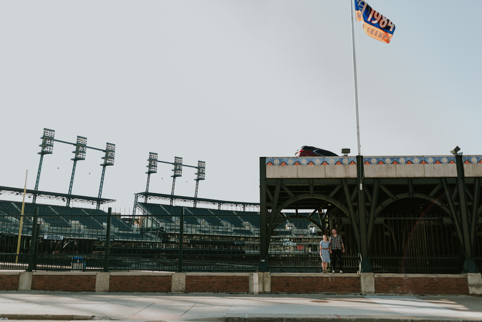 tigers stadium detroit photographer wedding
