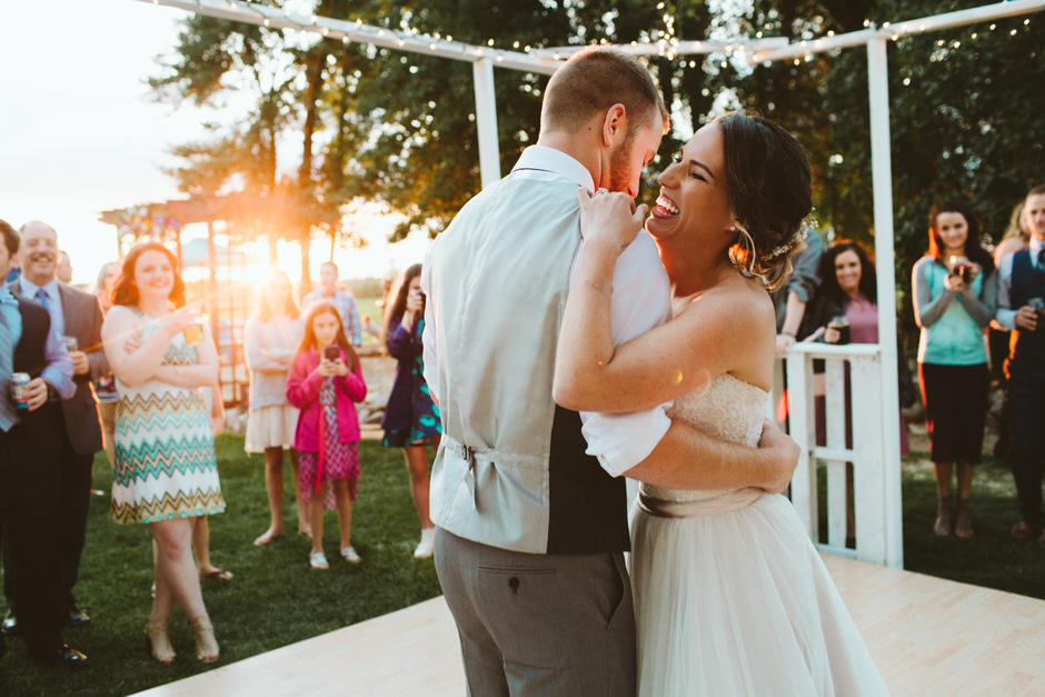 Michigan Backyard Wedding | Allie + Aaron Clio Michigan