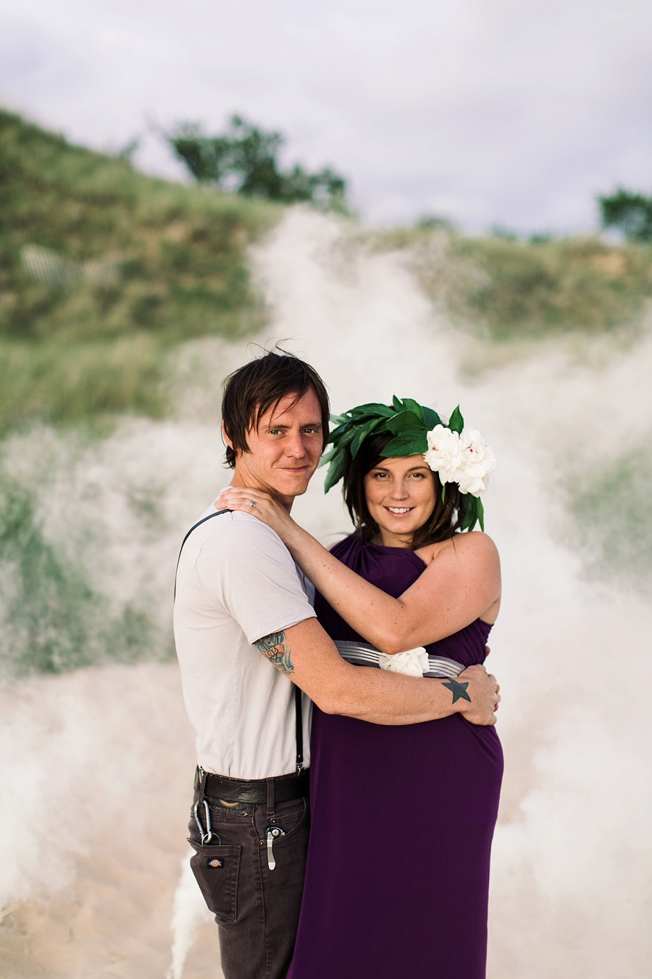 muskegon smoke bomb maternity photography