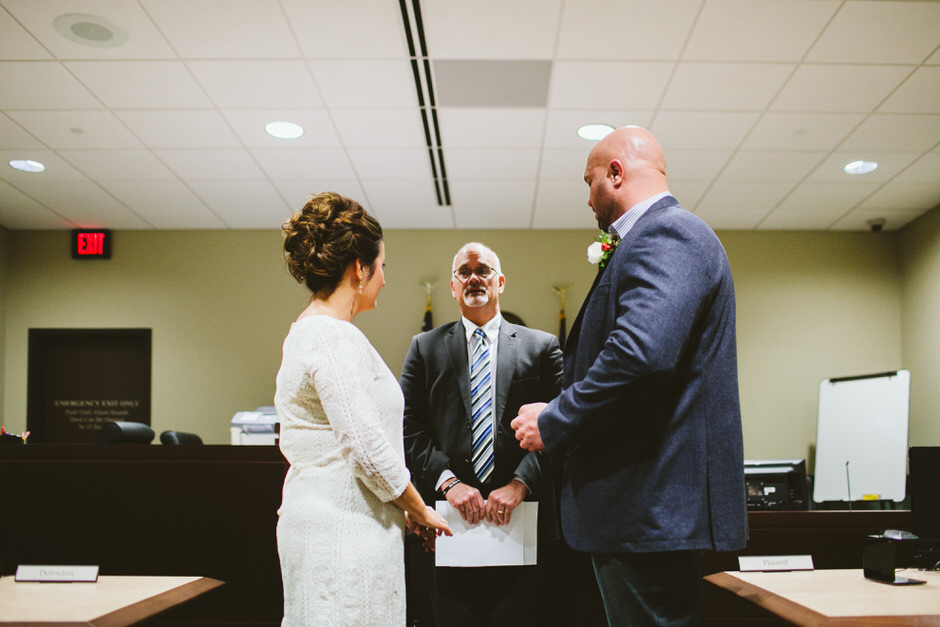 wedding ceremony at grand haven courthouse