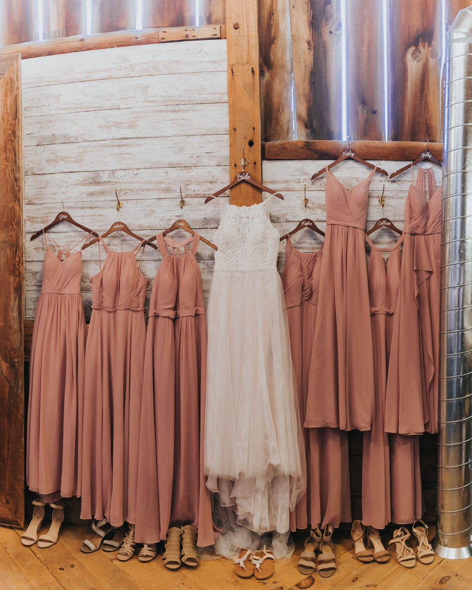 all dresses hanging up